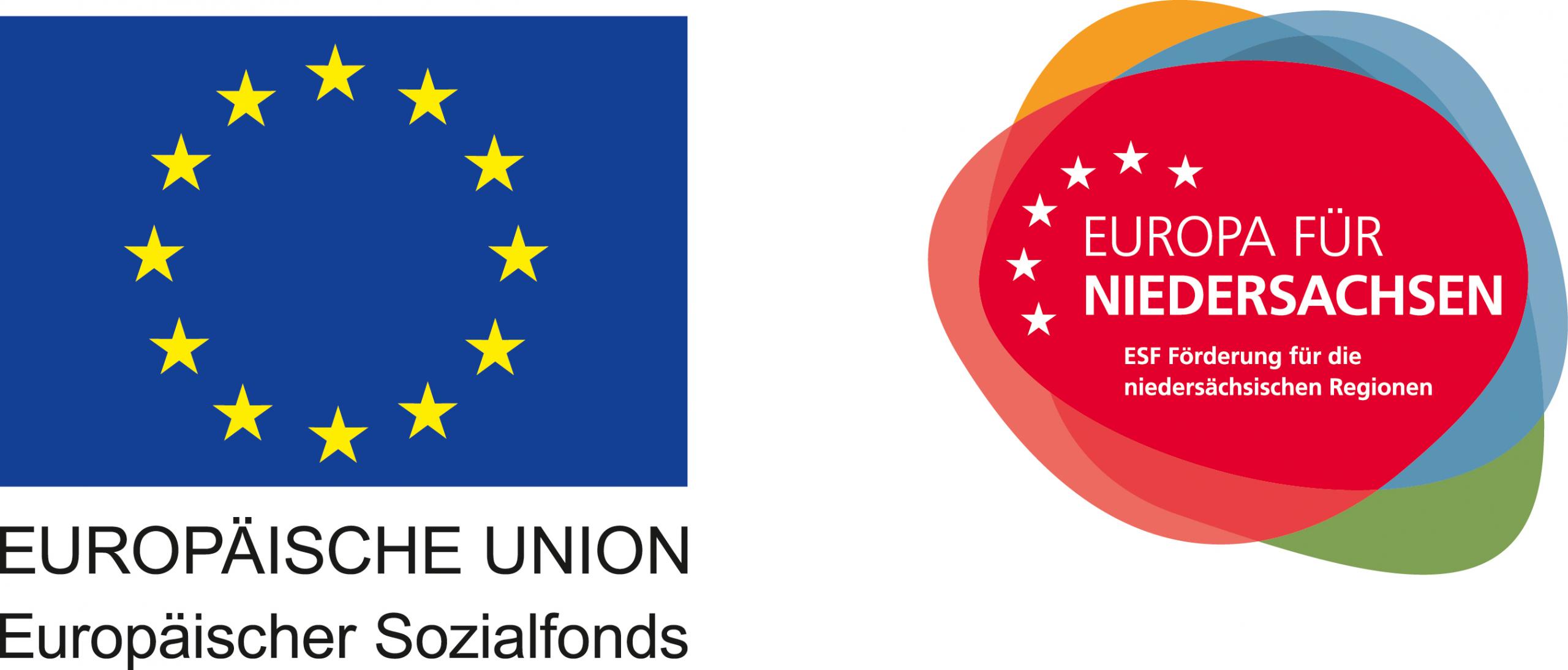 Europäisch Union Sozialfonds Logo und Siegel Europa Niedersachsen - Reha-OT